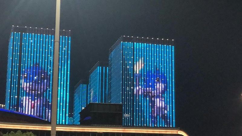 军运会夜景图片