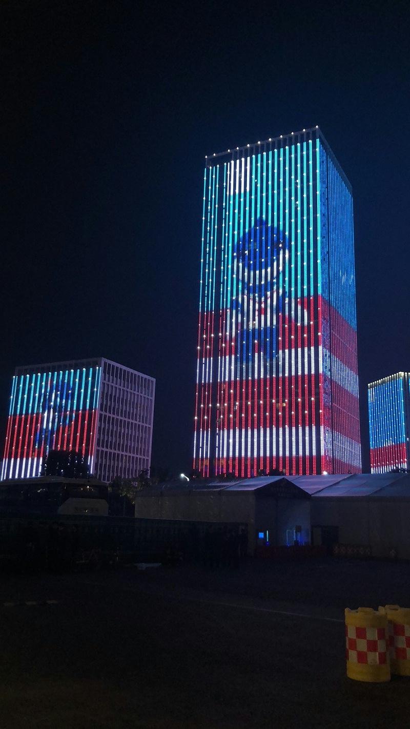 军运会夜景形象图