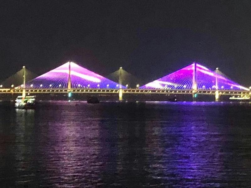 武汉江岸亮化夜景图