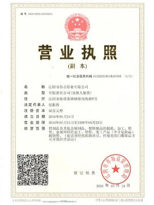 伟吉铝业营业执照